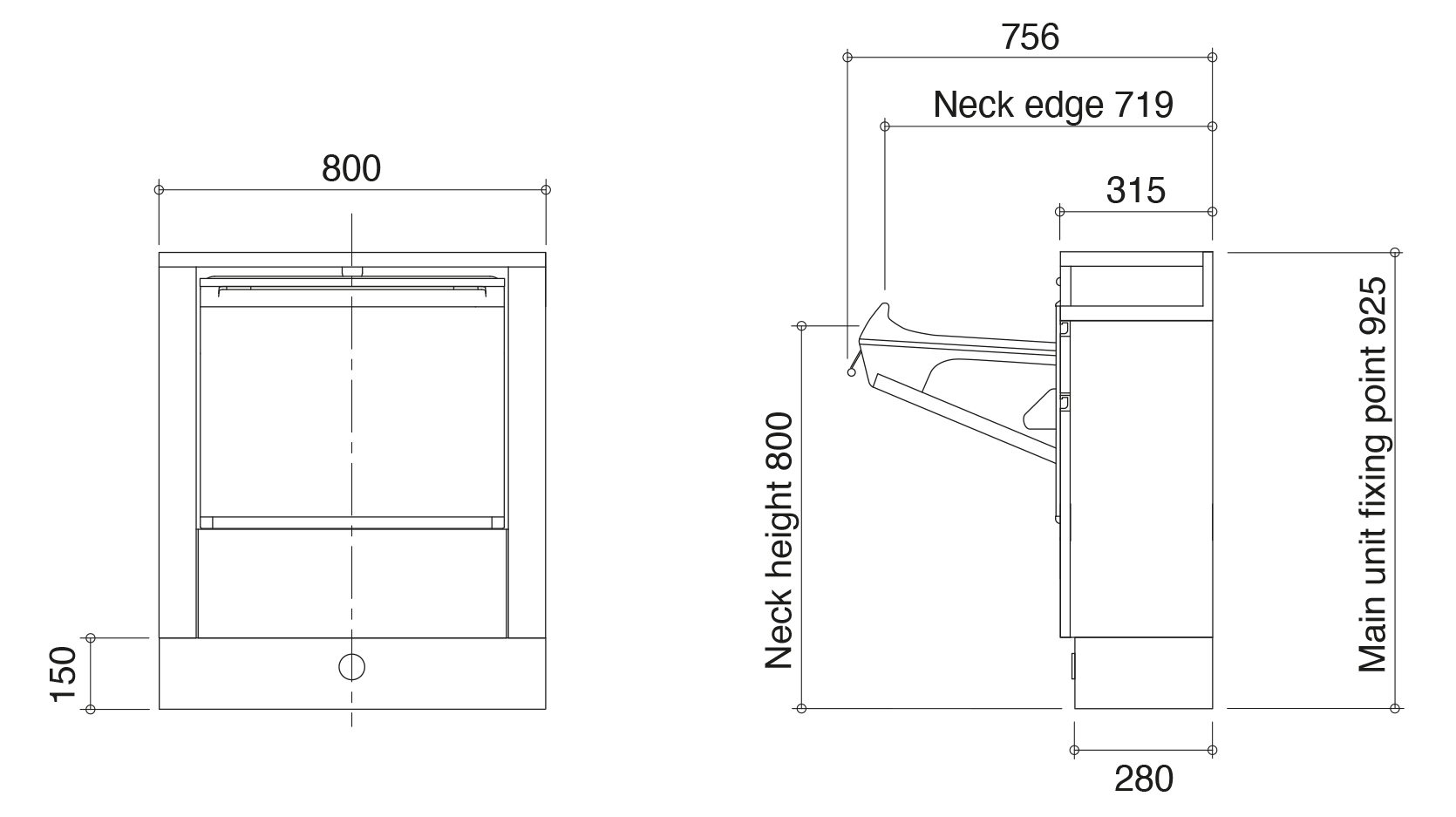 Salon Console dimensions